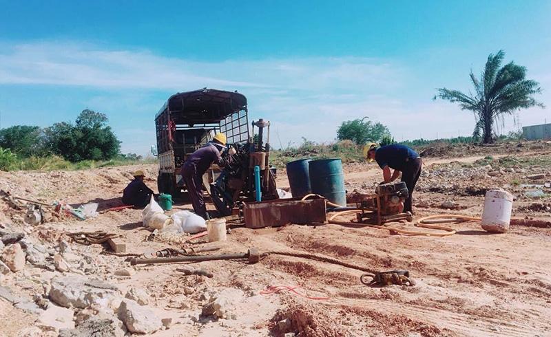 ガソリンスタンド跡地の土壌・地下水調査