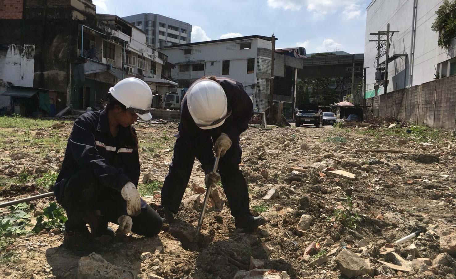 コンドミニアム建設用地の土壌調査